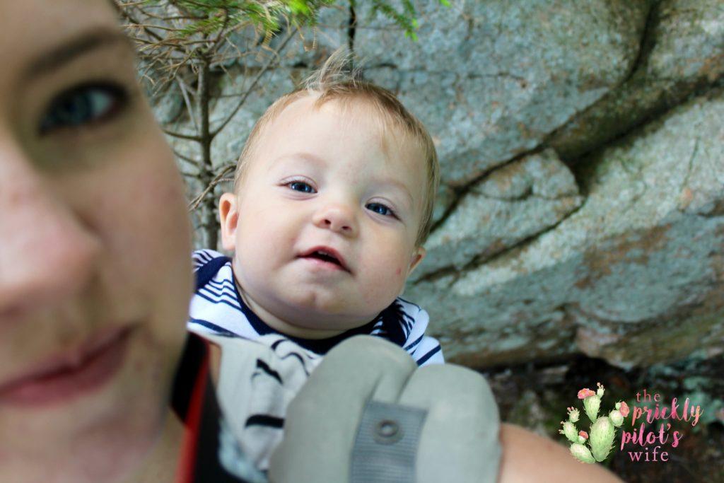 kaitlyn baby wearing selfie hiking wellness advocate