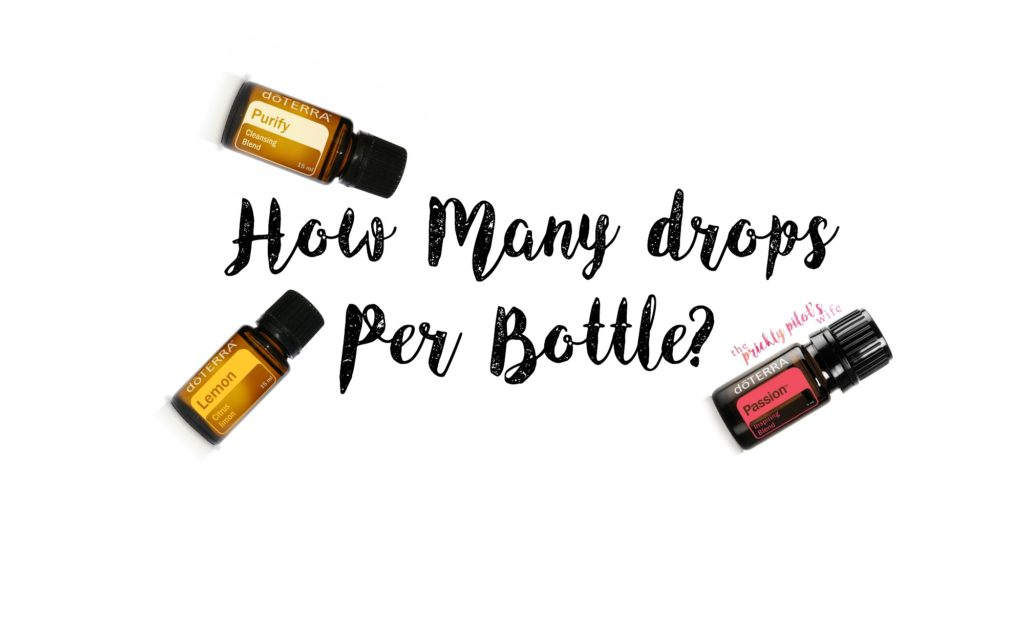 drops per bottle doterra essential oils