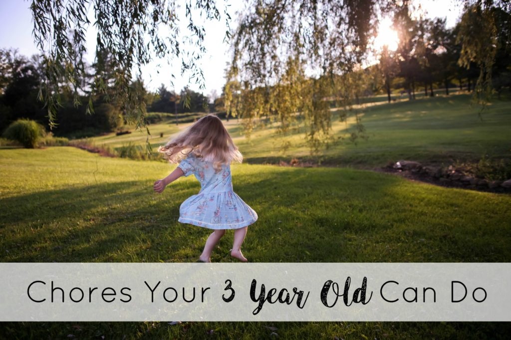 chores your three year old can do
