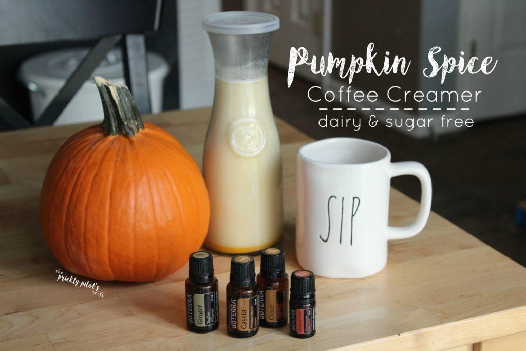 pumpkin spice coffee creamer dairy and sugar free