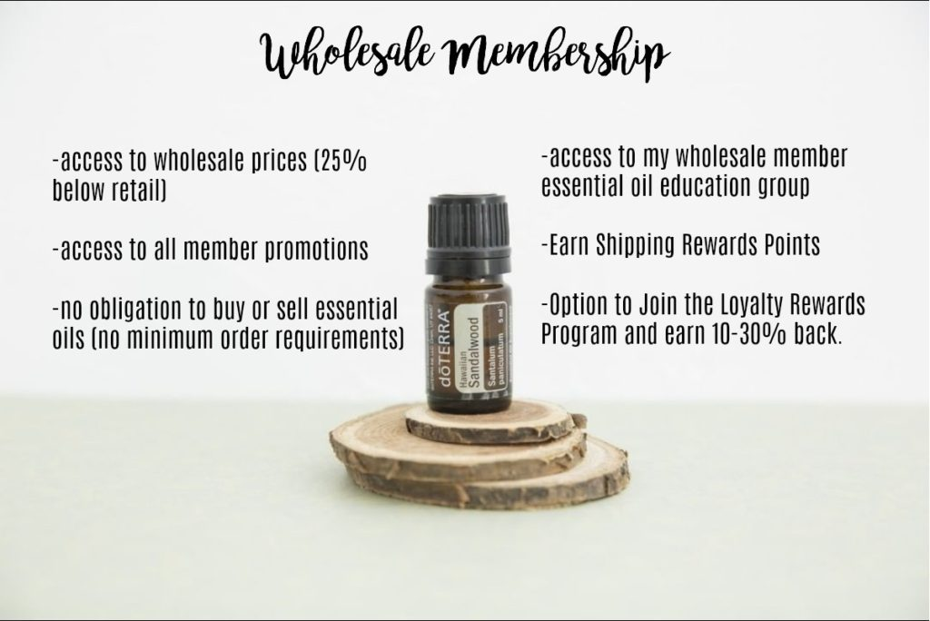 doterra wholesale membership benefits